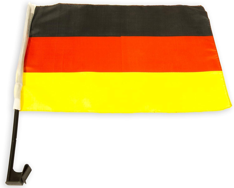 Autofahne Deutschland Auto Fenster Fahne Germany 45 Cm X 30 Cm Schwarz Rot Gold Fanartikel Küche Haushalt