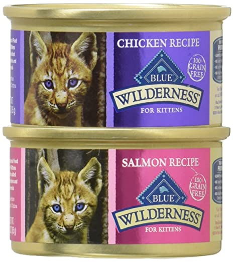 Blue Buffalo Color Azul Desierto Gato sin Grano de salmón y Pollo Variety Pack húmedo Comida