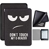Capa Kindle Paperwhite 10ª geração à prova d'água - Função Liga/Desliga - Fechamento magnético - Silicone - Don't Touch My E-reader