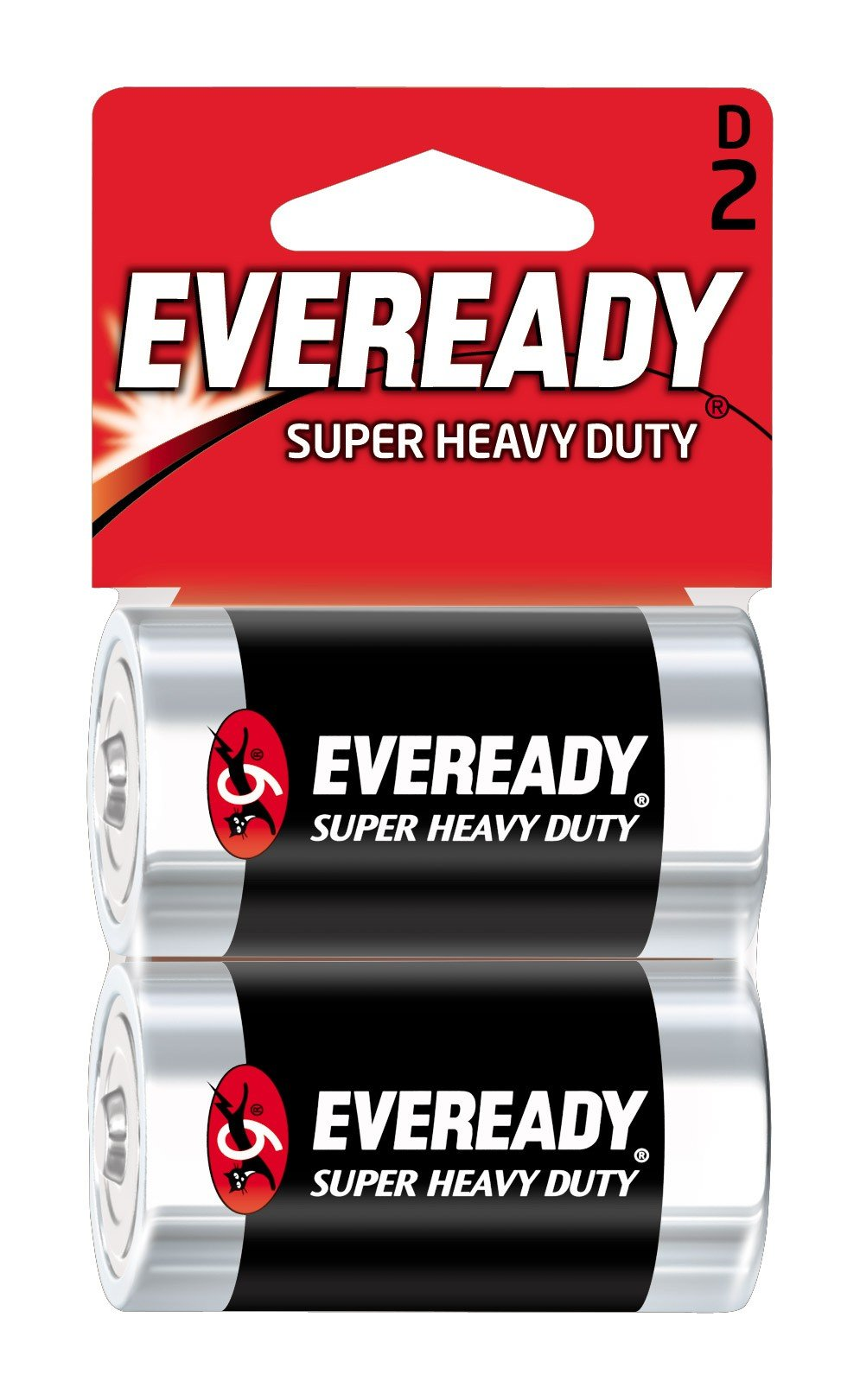Energizer Eveready Super Heavy Duty Battery, D Size, 2-Count (Pack of 12)