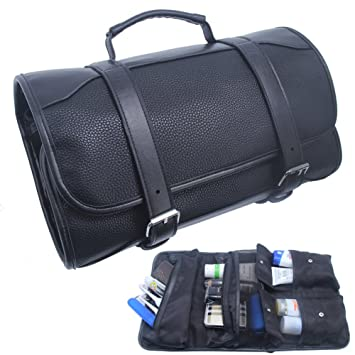 4220f272cd57 MLMSY Leather Toiletry Bag Hanging Travel Shaving Dopp Kit Organizer with  Portable Handmade Waterproof Leak Proof