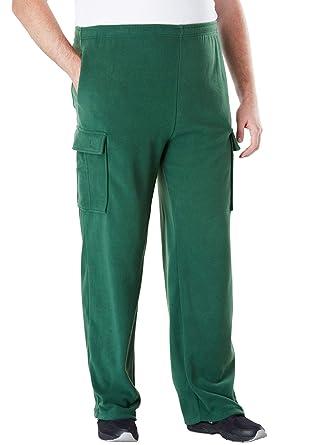 5bbb960a0889e4 Amazon.com  KingSize Men s Big   Tall Explorer Fleece Cargo Pants ...