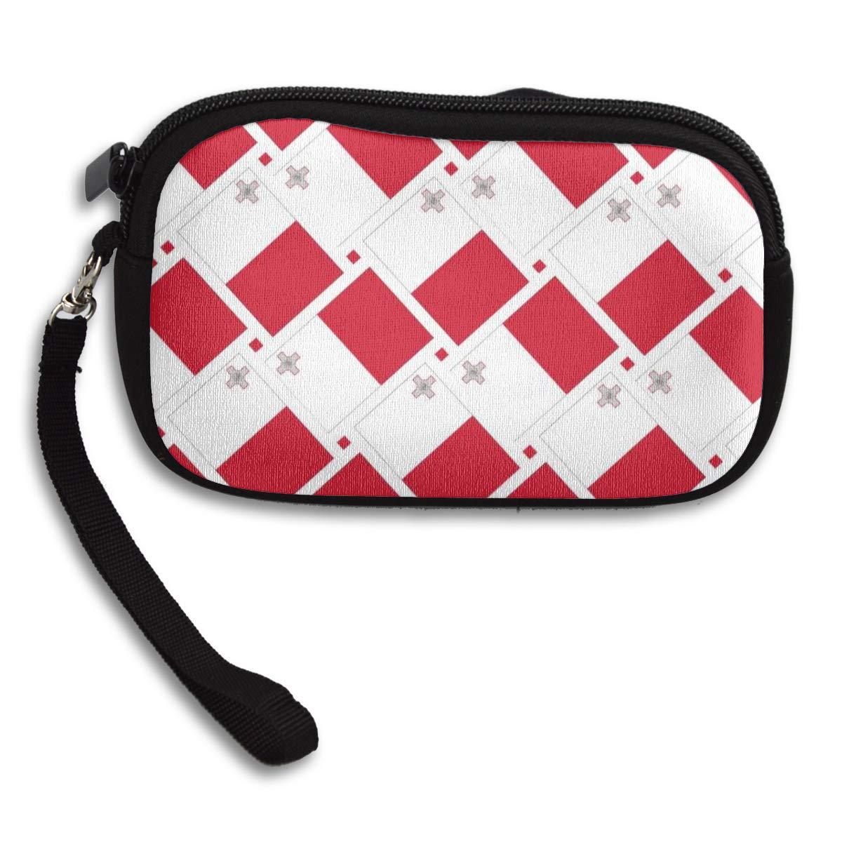 Coin Purse Malta Flag Weave wallet change Purse with Zipper Wallet Coin Pouch Mini Size Cash Phone Holder