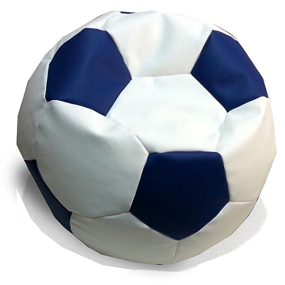 Hagoelvago Puff Pelota Balón de Fútbol Original Polipiel Colores Oficiales 60 cm Diámetro para nińos y Adultos Celebra los goles de tu Equipo Relleno ...