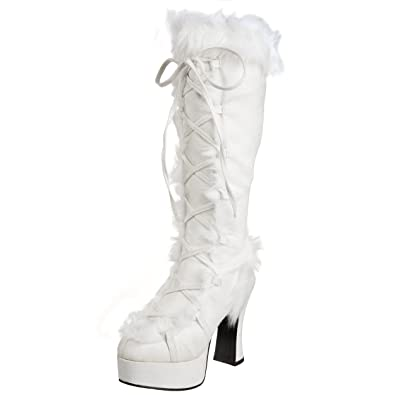 10091cdce88d3 Funtasma by Pleaser Women's Mammoth-311 Boot,White PU/Faux Fur,11 M