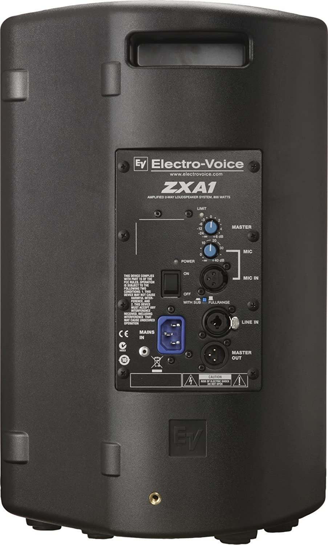 Electro-Voice ZxA1-90 Negro altavoz - Altavoces (De 2 vías, 1.0 canales, Alámbrico, XLR, 48-20000 Hz, Negro): Amazon.es: Electrónica