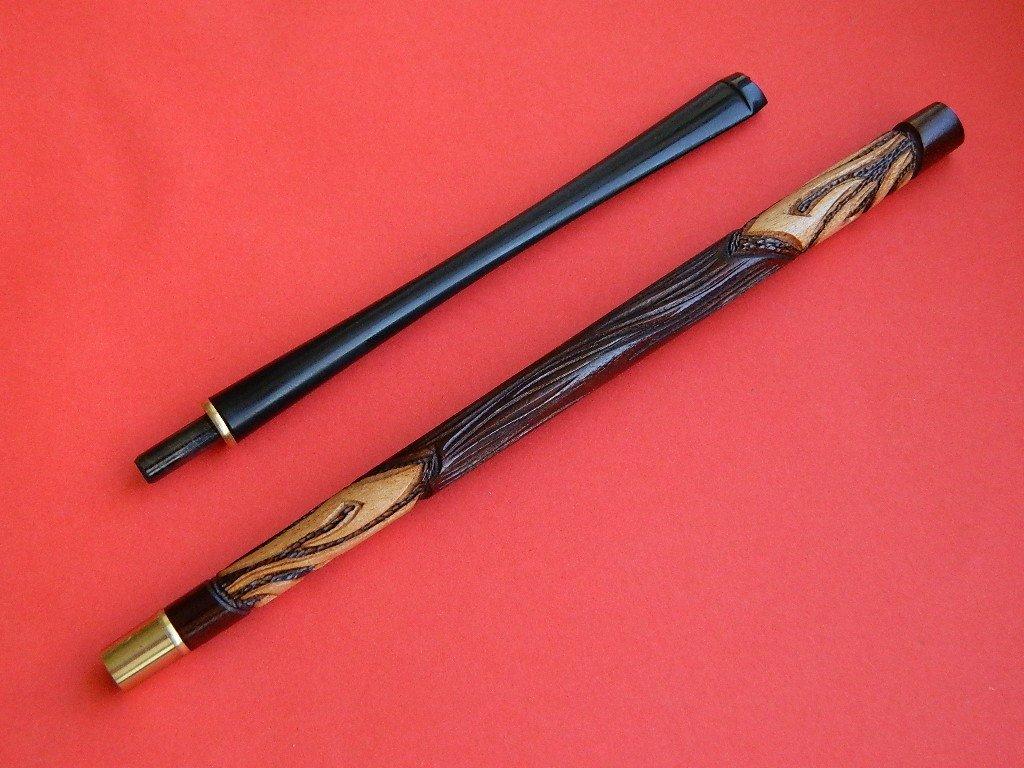 Dr.Watson - 10.6''/27cm Super Long Cigarette Holder, Case - No Filter - Hand Carved, fits SLIM cigarettes