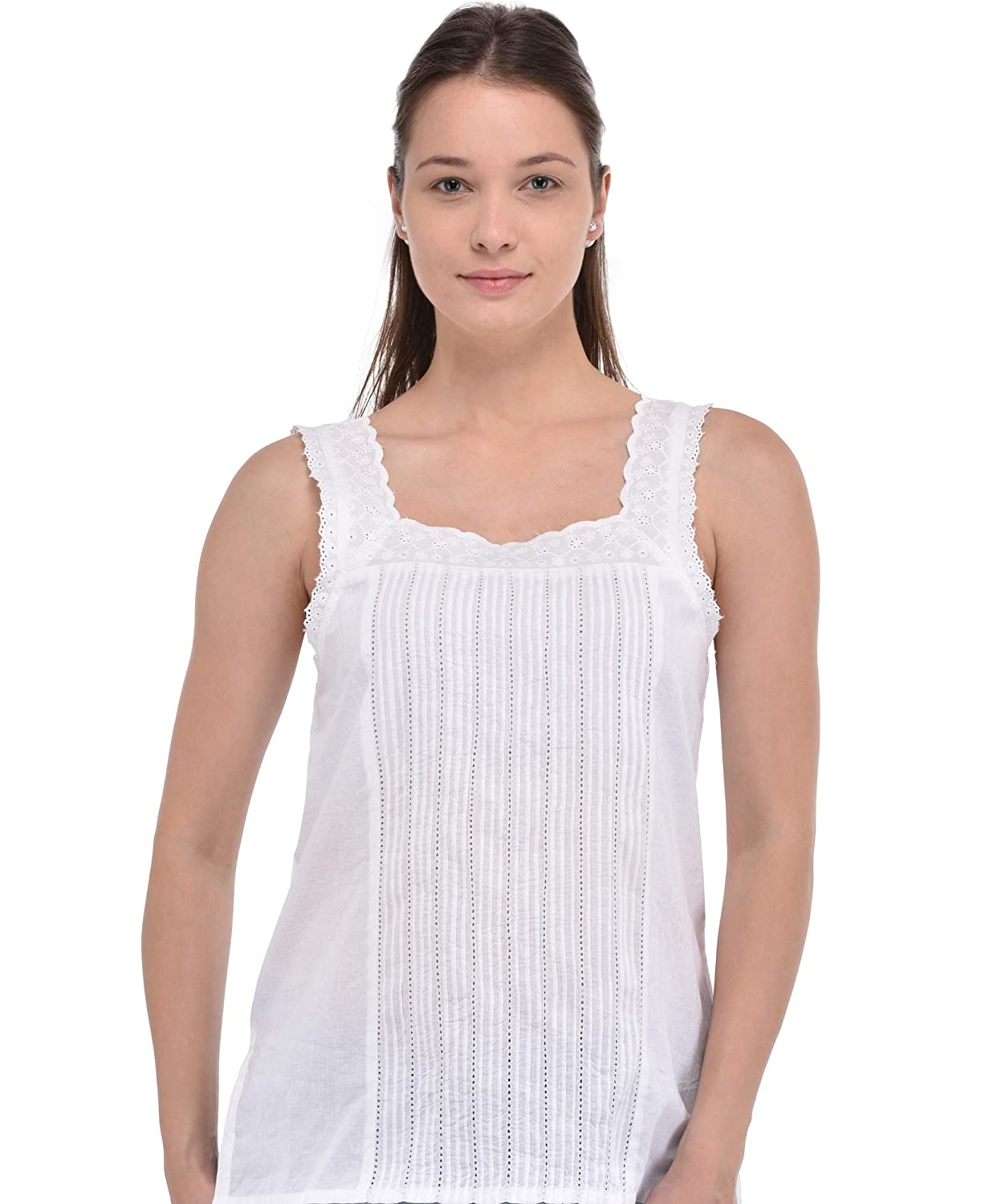 Cotton Lane Women's White Top   Elegant White Top for Ladies