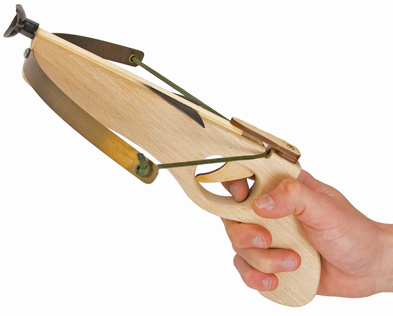 Armbrust Kinder-Armbrust Mini-Armbrust Stabile Holz-Armbrust Bogen Natur-Holz Klebepfeile Holz-Spielzeug Nick and Ben