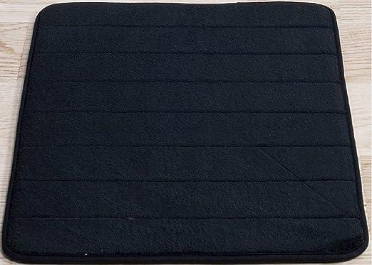 Amazon Com Black Memory Foam Bath Mat Incredibly Soft And
