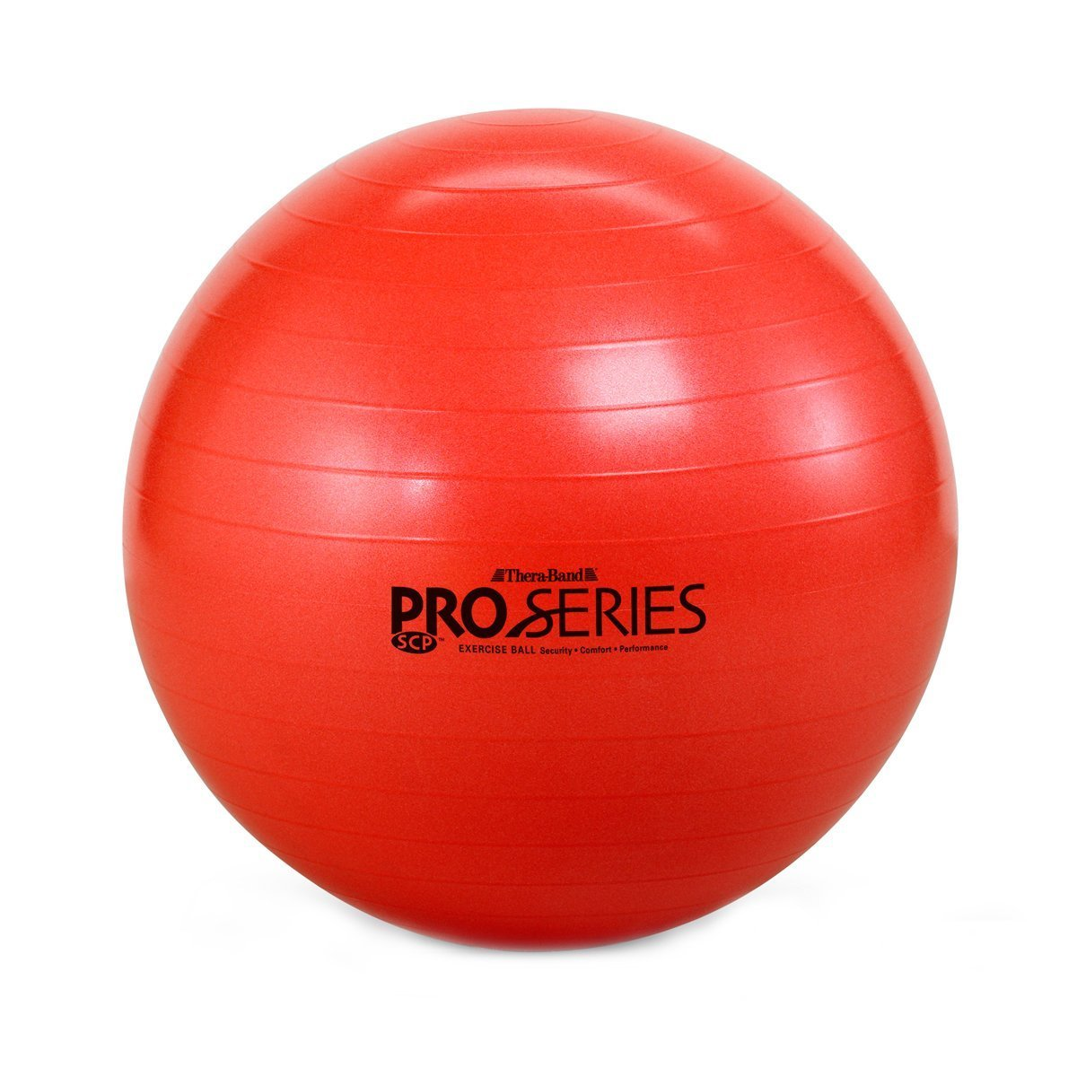 TheraBand Pro Series Exercise and Stability Ball with 55 cm Diameter, Professional Slow Deflate & Burst Resistant Fitness Ball for Improved Posture, Balance, Yoga, Pilates, Core Stability, Red