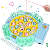NARRIO Kids Toys for 3 2 5 4 Year Old Boys Gifts, Fishing Game Toys Rotating Boards with Music Gifts for 2-6 Year Old Boys Toys, Funny Birthday Gifts for 2 3 4 Year Old Boys Toys for Toddlers Age 1-6