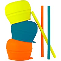 Boon Baby-Boys Snug Straw, Pack of 3 Lids
