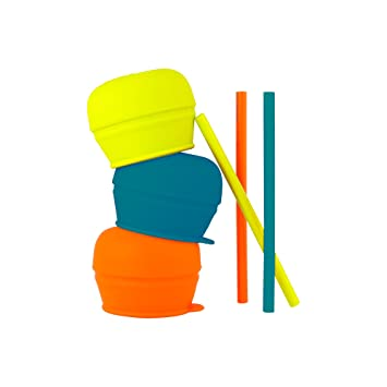 Boon SNUG Straw, Blue/Orange/Green