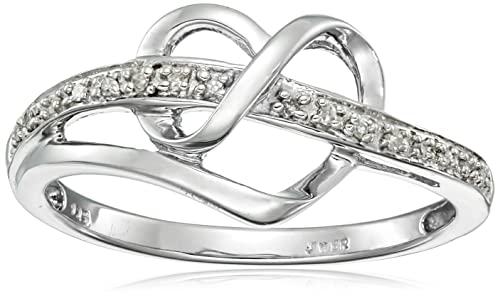 Sterling Silver Diamond Heart Ring Valentines gifts Valentine gift