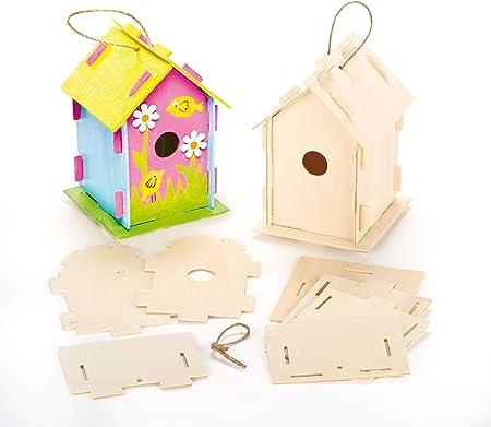 Baker Ross Mini pajarera de madera, casas para pintar y decorar ...