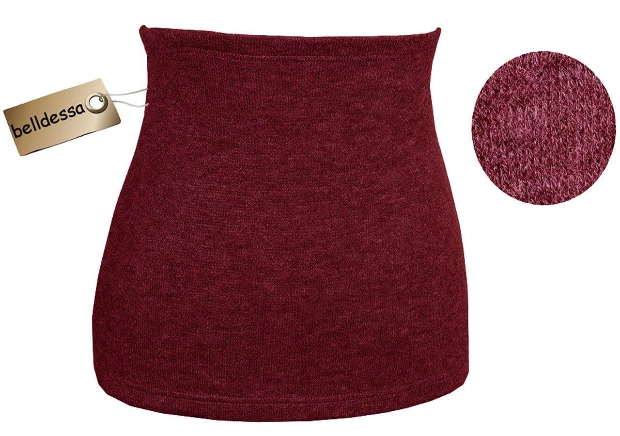 Angora Wolle - weinrot / rot - Nierenwärmer / Rückenwärmer / Bauchwärmer - Größe: Damen Frauen L - ideal auch für Blasenentzündung und Hexenschuss / Rückenschmerzen / Menstruationsbeschwerden