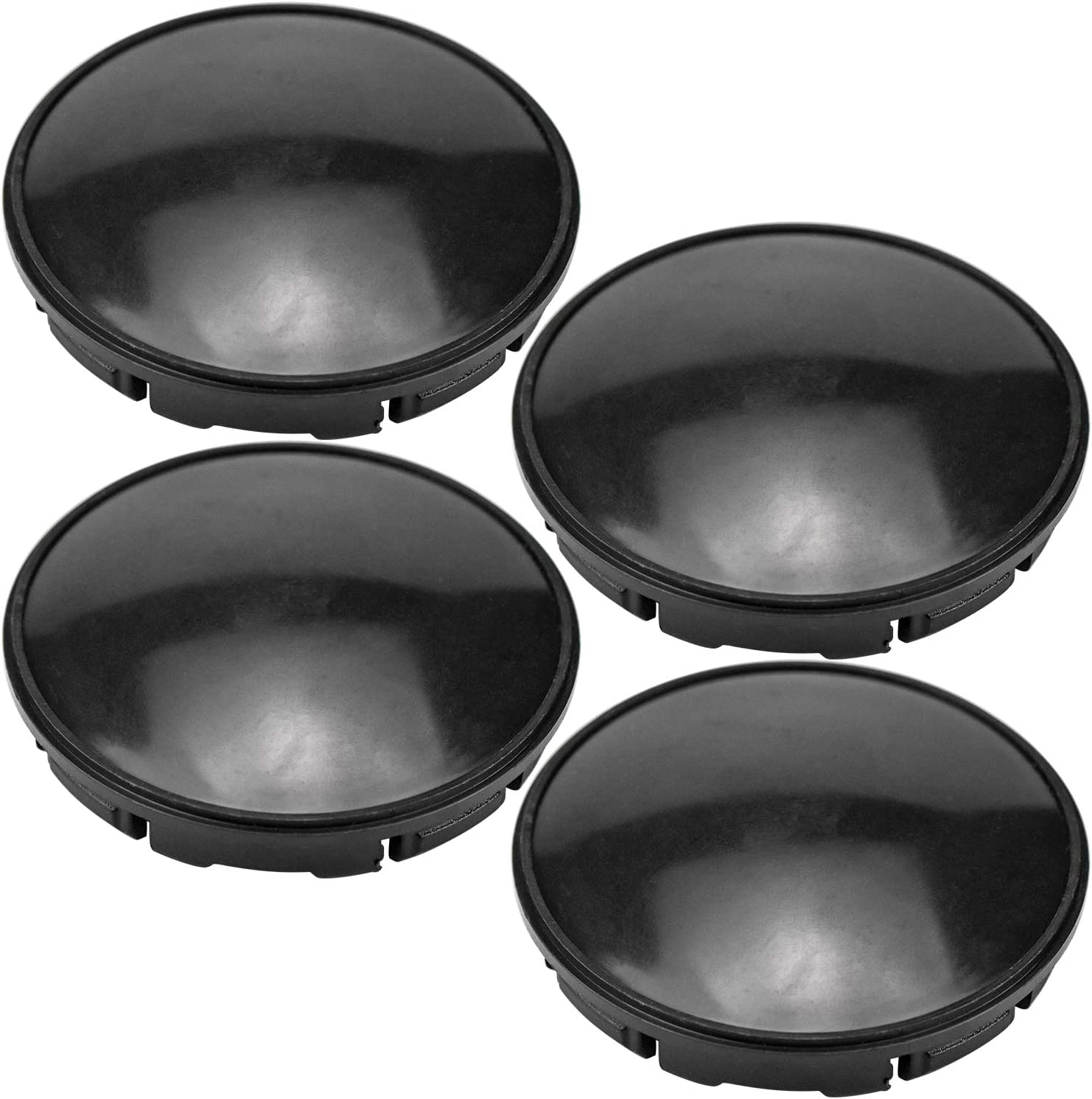 COCOCITY Juego de 4 x Buje Tapa 56 mm tapacubos para Llantas ABS Plástico Accesorios universales para el Coche (Negro)