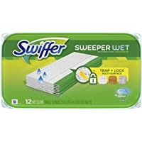 Swiffer Sweeper Wet Mopping Pad Refills for Floor Mop Open Window Fresh Scent 12 Count - 1 Pack