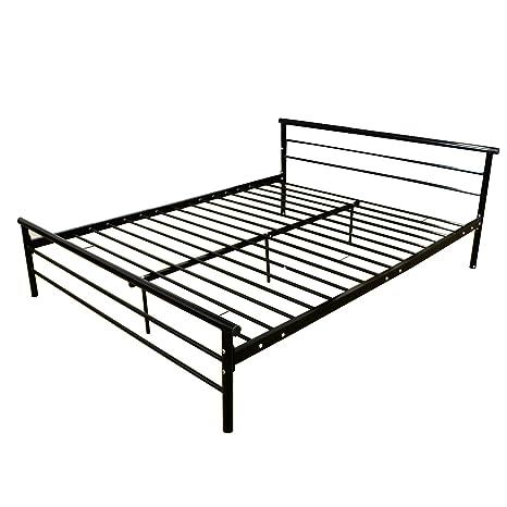 newest a60fe 32fff Amazon.com: WALCUT Heavy Duty Bed Frame Queen Size, Metal ...