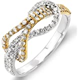 Dazzlingrock Collection 0.45 Carat (ctw) 14k White & Round Diamond Ladies Cocktail Ring 1/2 CT, Yellow Gold
