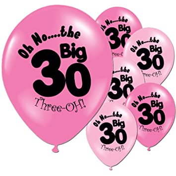 CY Mylar 12quot Latex Balloons 30th Birthday Decoration Happy 12Pack Pink