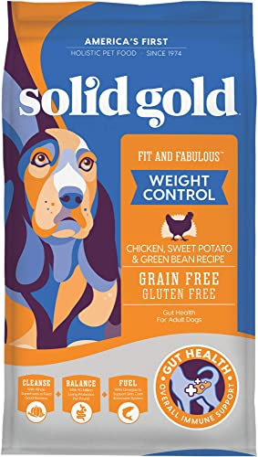 Solid Gold – Fit Fabulous – Grain-Free Natural Chicken, Sweet Potato Green Bean – Holistic Weight Control Dog Food
