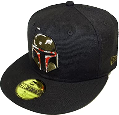 1c351593046d7 New Era Boba Fett Black Cap 59fifty Basic Fitted Limited Edition Star Wars  Mens at Amazon Men s Clothing store
