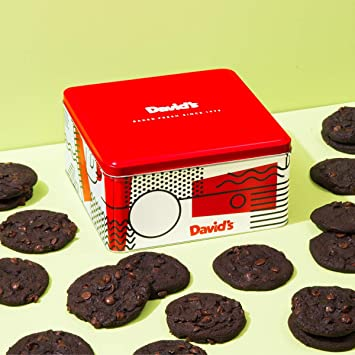 David S Cookies 24 Fresh Baked Double Chocolate Chunk Cookie Gourmet Gift Basket Christmas