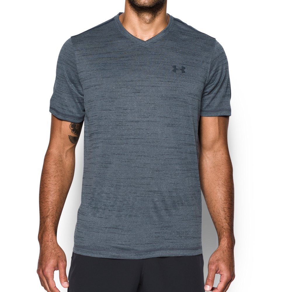 Under Armour Men's Tech V-Neck T-Shirt, Stealth Gray , Large by Under Armour