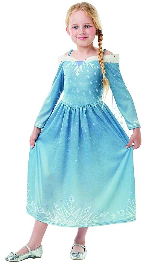 729195635123 Halloweenia – Bambina Elsa Frozen Olaf – Adventure Classic Costume con  Vestito da Principessa e Mantello