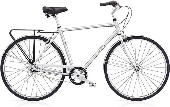 ELECTRA Loft 7i Hombre Bicicleta Regular Plata Ciudad Cilindro ...
