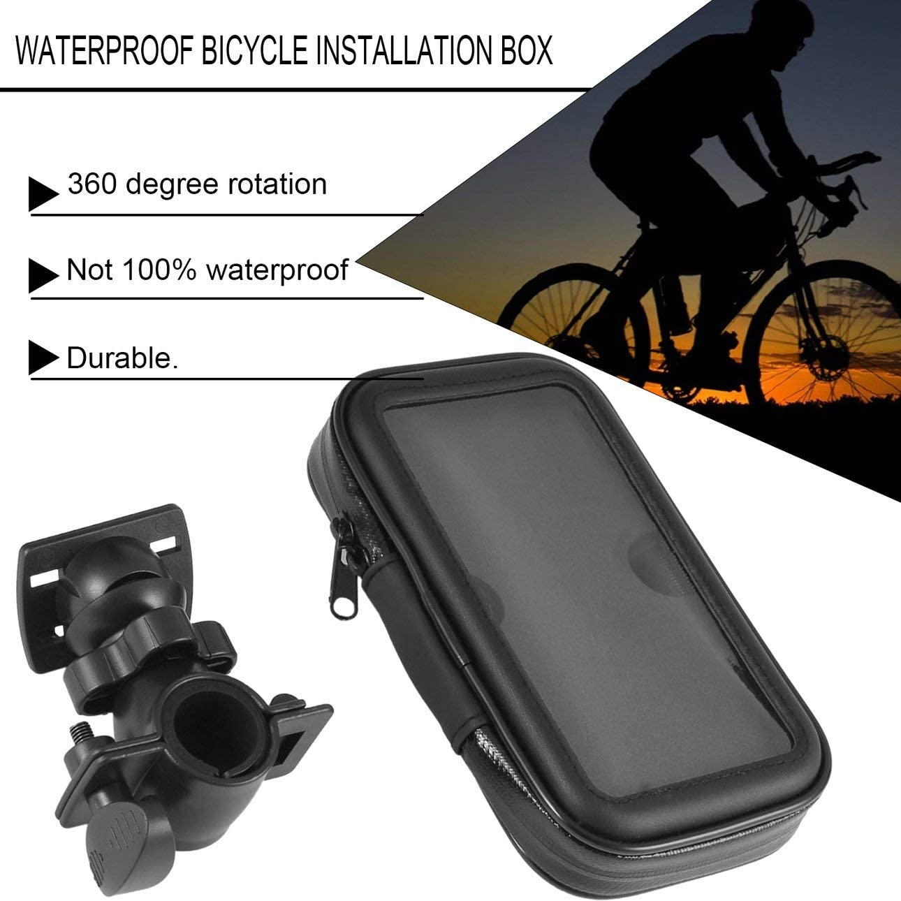 Liobaba Waterproof Bicycle Bag Bike Case Bicycle Mount Holder Case Handlebar Holder Bicycle Cover for Mobile Phone Bike Accessories