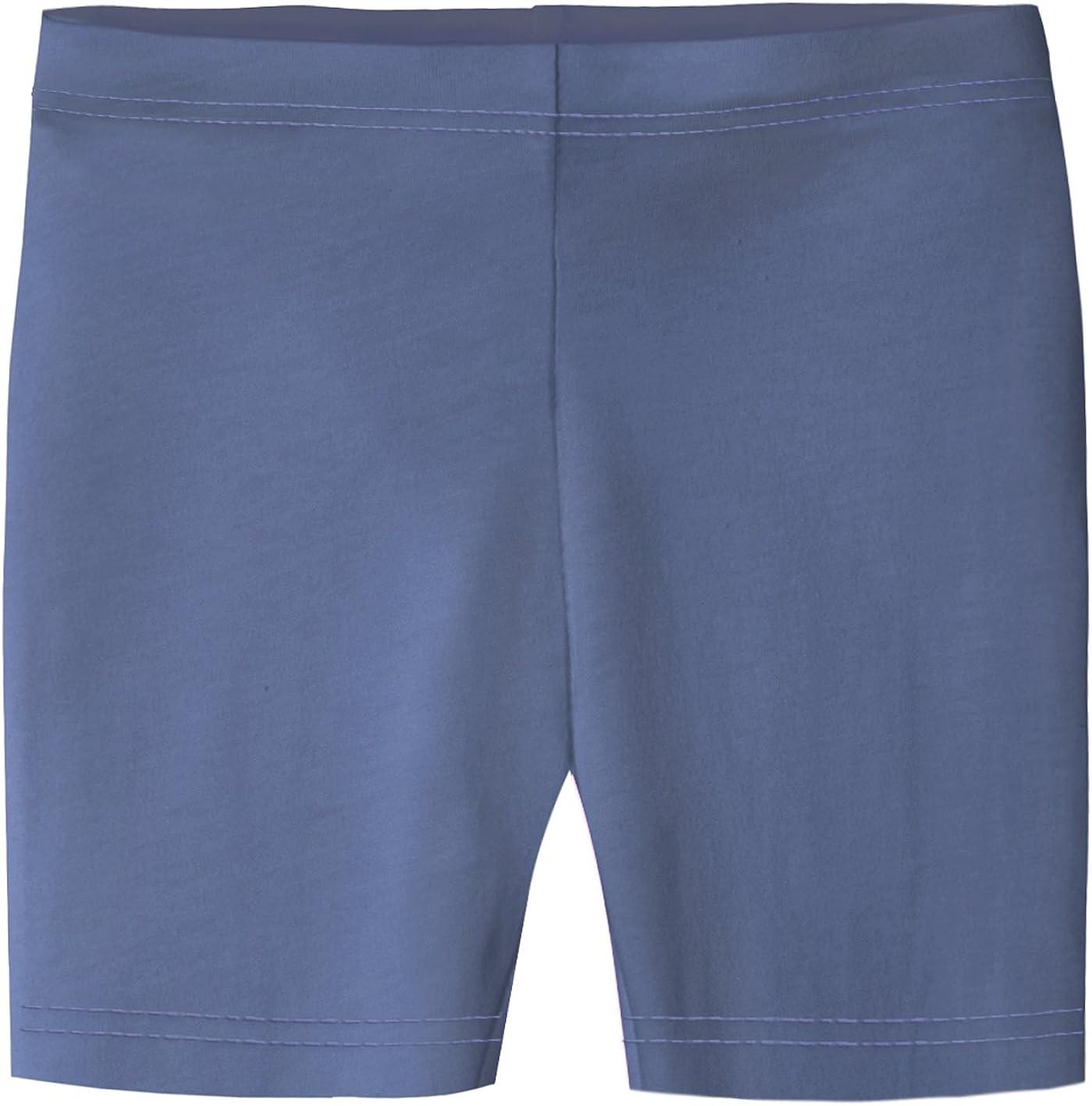 City Threads Big Girls Underwear Bike Shorts in All Cotton Perfect for SPD and Sensitive Skin Sports Dance School Uniform Denim Blue 16