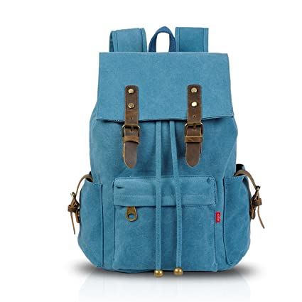 a30defef20f95 FANDARE Vintage Outdoor Laptop College Rucksack Backpacks Multipurpose  Notebook Travel Hiking Camping Bags Fits up to 16 Inch Laptops and Tablets  Computer ...