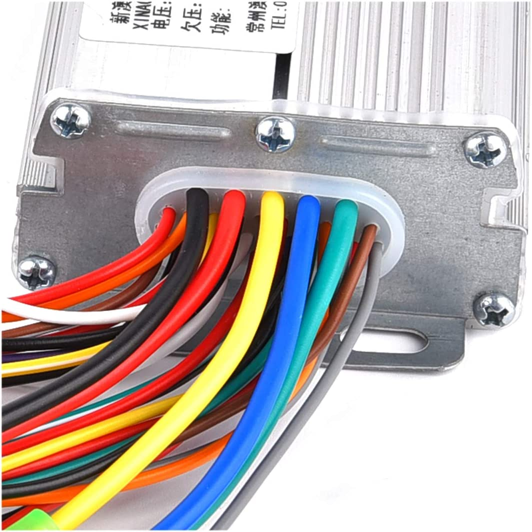 RUHUO DC 48V 350W Brushless Motor Controller 6 Mosfet w//Reverse for Electric ATV 4 Wheeler Tricycle Wheelchair
