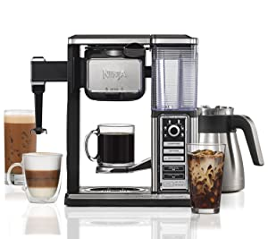 Ninja CF097 Coffee Bar, Black/Silver (Renewed)