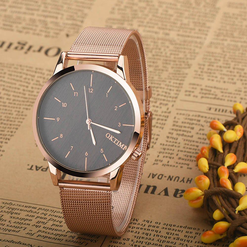Para hombre Metal reloj, hosamtel macho niños Business Casual analógico reloj de pulsera para hombre C21): Amazon.es: Electrónica