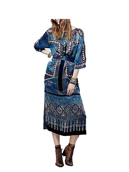 Paule Trevelyan NEW quente cinto fino falso vestido de seda de impressão do vintage impresso primavera