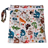 Baby Waterproof Zipper Bag Washable Reusable Baby