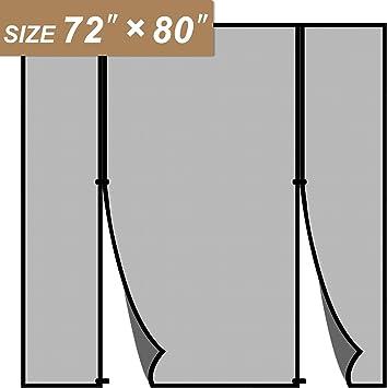 Cortina mosquitera magnética para puerta corredera de 72 x 80 ...