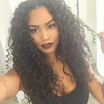 WTB Hair Long Afro Kinky Wig Curly Black Synthetic Wigs For Black Women  Best Natural Looking African Wigs Black Wig  Amazon.ca  Beauty 80f13eedb4