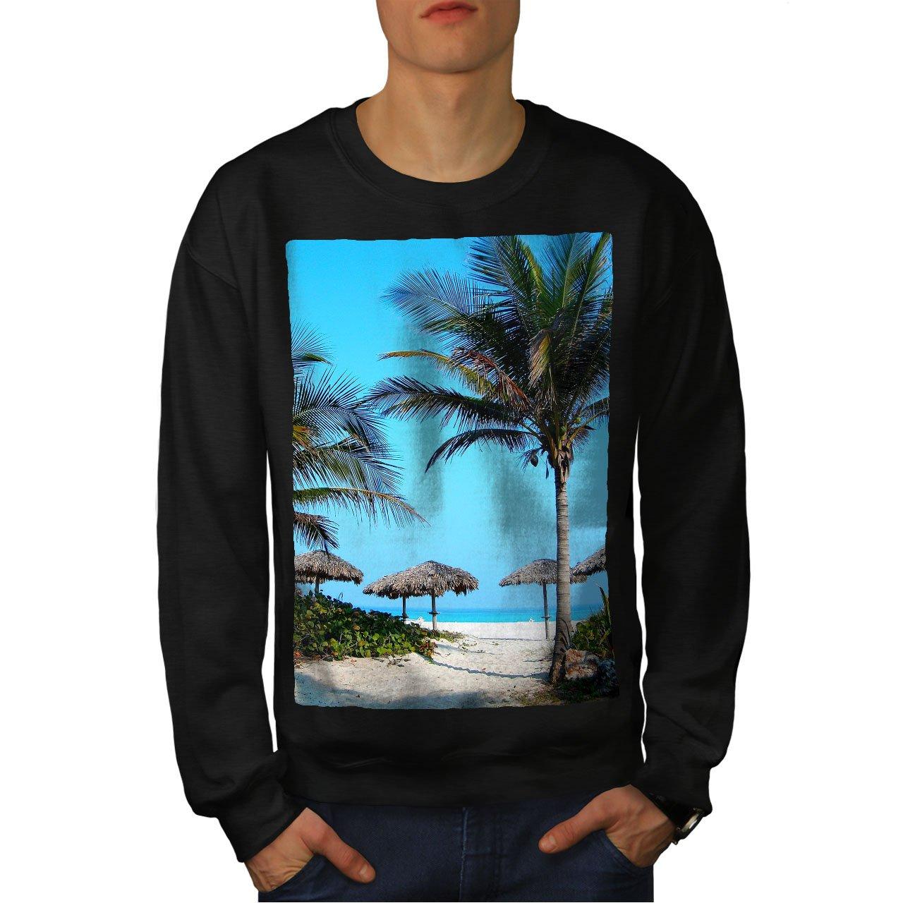 Sea Casual Jumper wellcoda Sea Beautiful Palm Nature Mens Sweatshirt