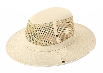 c8d79d6e2d1fd SUNLAND Men s Sun Hat Summer Hat Wide Brim Packable Bucket Safari Cap  Fishing Hats Beige