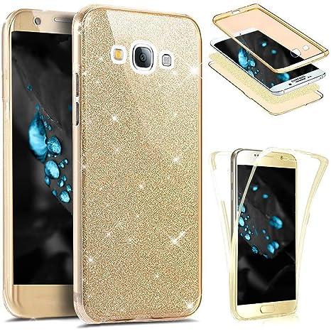 Funda Samsung Galaxy J5 2015 360 Grados Integral Para Ambas Caras Carcasa,Galaxy J5 2015 Transparente Funda Caso 360 Grados Full Body Protección ...