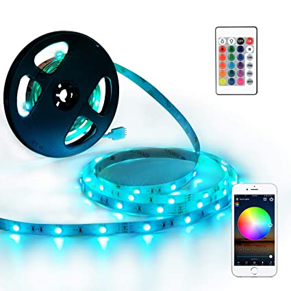 01096f98d2f1 Amazon.com: YIHONG LED Strip Lights Compatible with Alexa Google Home 33ft  300LEDs RGB WiFi LED Light Strip Non Waterproof LED Tape Ribbon: Home  Improvement