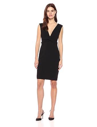 06d5d4cff592 bebe Women s Little Black Dress with Plunging Deep V Neckline at ...