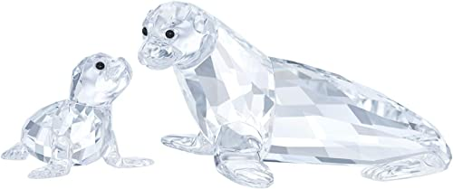 Swarovski Crystal Sea Lion Mother with Baby Figurine 5275796