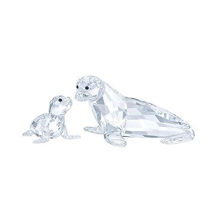 f6049b560 Amazon.com: Swarovski Crystal Sea Lion Mother with Baby: Home & Kitchen