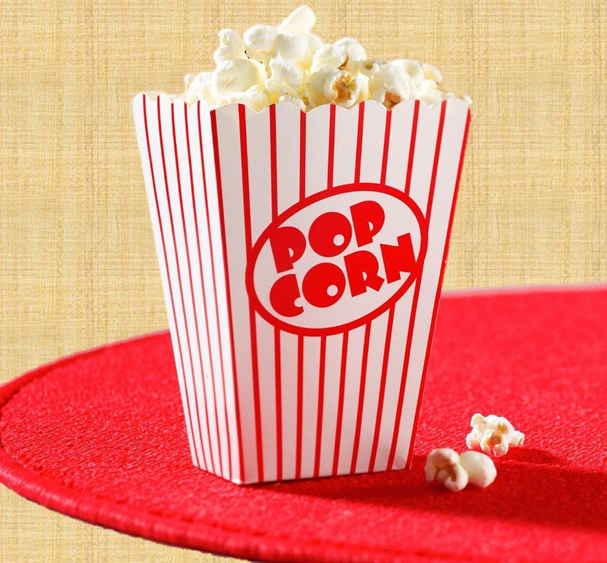 Amazon.com: Movie Theater Small Popcorn Boxes - Paper Popcorn Boxes ...